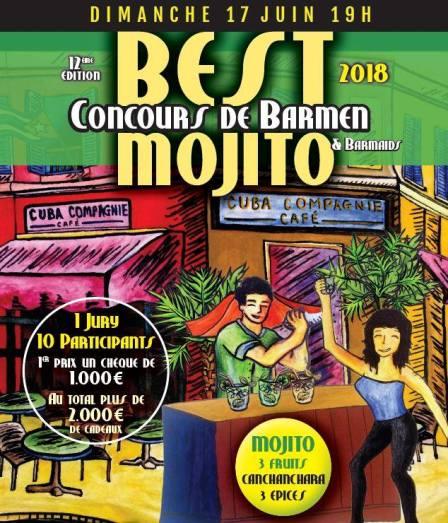 Best Mojito 2018 au Cuba Compagnie Café à Paris