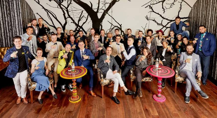 Les 34 bartenders finalistes de la Bacardi Legacy 2018 // © Bacardi Legacy 2018