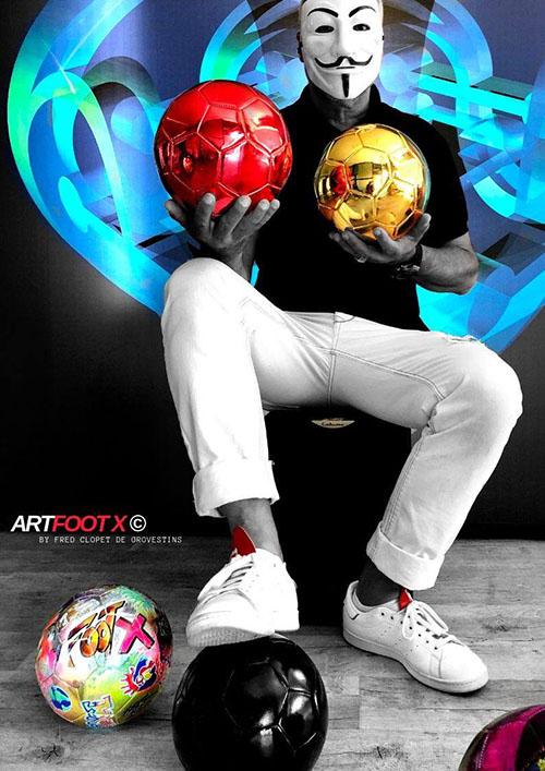 Quelques pièces de la collection de ballons ArtFootX de Frédéric Clopet