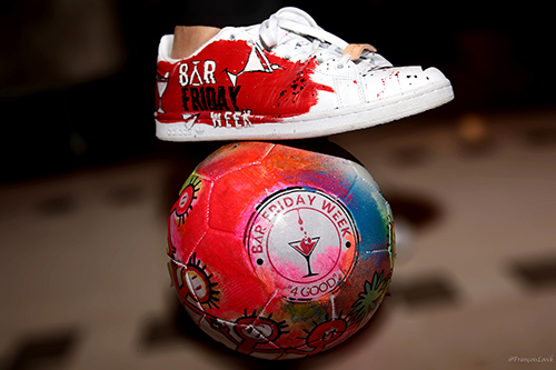 Stan Smith by Margot del Coco et ballon ArtfootX© by Fred Clopet