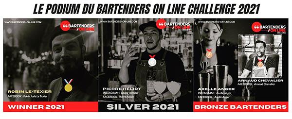 1000 € pour Robin Le Texier, vainqueur du Bartenders on line Challenge  2021