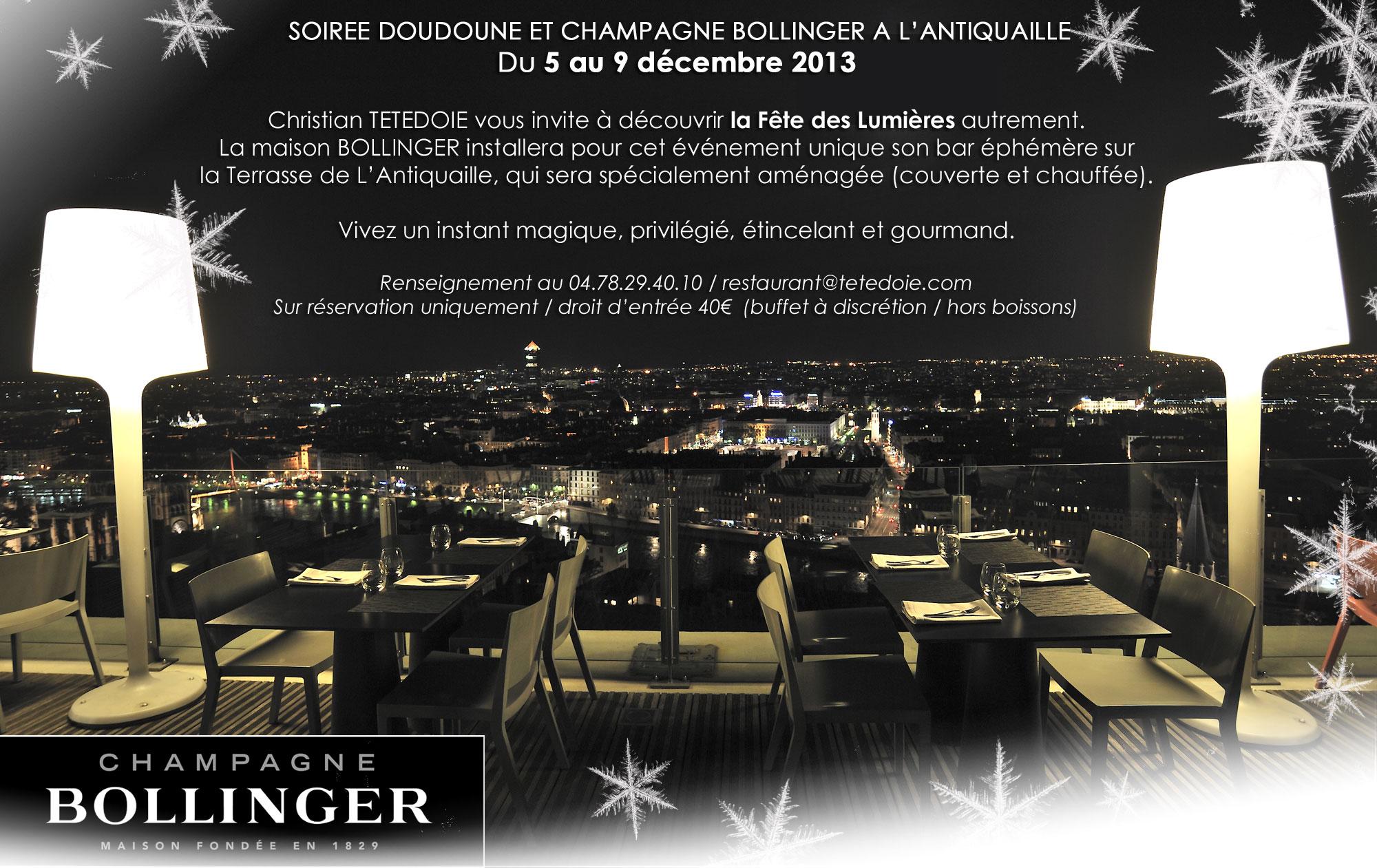 """Soirées """"Doudounes et Champagne"""" à l'Antiquaille, à Lyon // DR"""