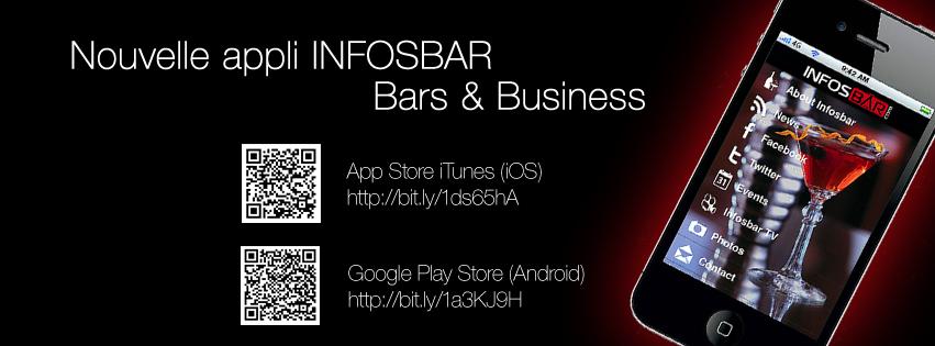 Nouvelle appli Infosbar - Bar and Business 2014