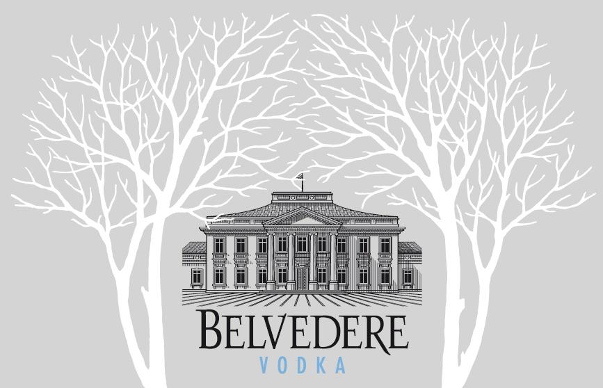Le palais présidentiel polonais représenté sur la bouteille Belvedere