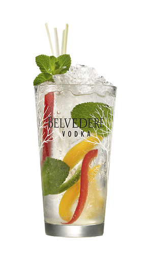 Cocktail Belvedere Mojito featuring Asian Wok