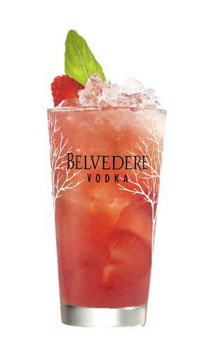 Cocktail Belvedere Bloody Mary featuring Soupe de Fraise