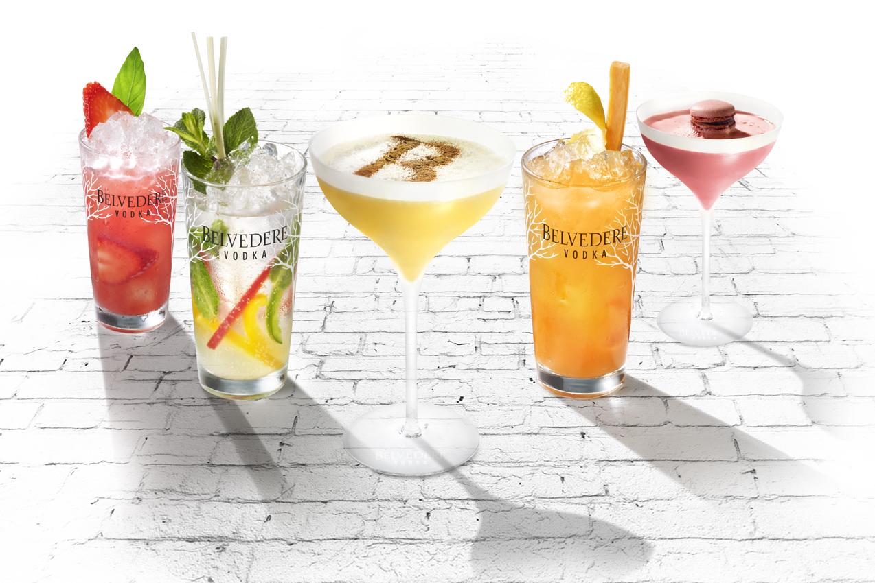 Quelques suggestions de cocktails Belvedere