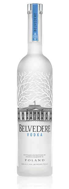 Belvedere vodka à base de seigle d'or de Dankowskie
