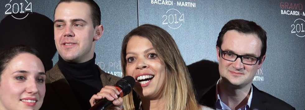 Christina Monaco juste après l'annonce de sa victoire