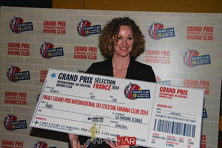 Christina Schneider du Glass : lauréate finale France Havana Club Grand Prix 2014 // © Infosbar