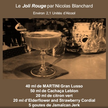 "Cocktail ""Le Joli Rouge"" // DR"