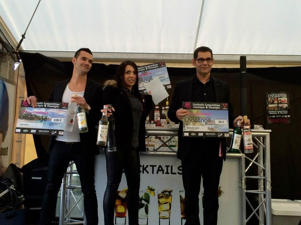 """Les trois lauréats """"Cocktails Round"""" – Sip Bartender Challenge 2014 © Page Facebook Sip Bartender Challenge"""