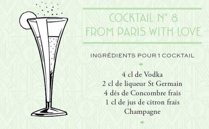 """Cocktail """"From Paris With Love"""" // Page Facebook Hôtel Du Collectionneur"""