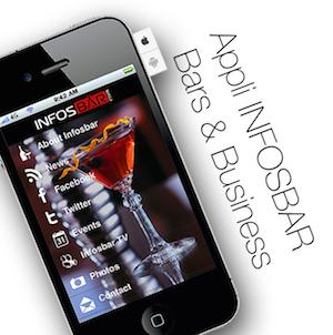 L'appli Infosbar est disponible gratuitement pour IOS et Android
