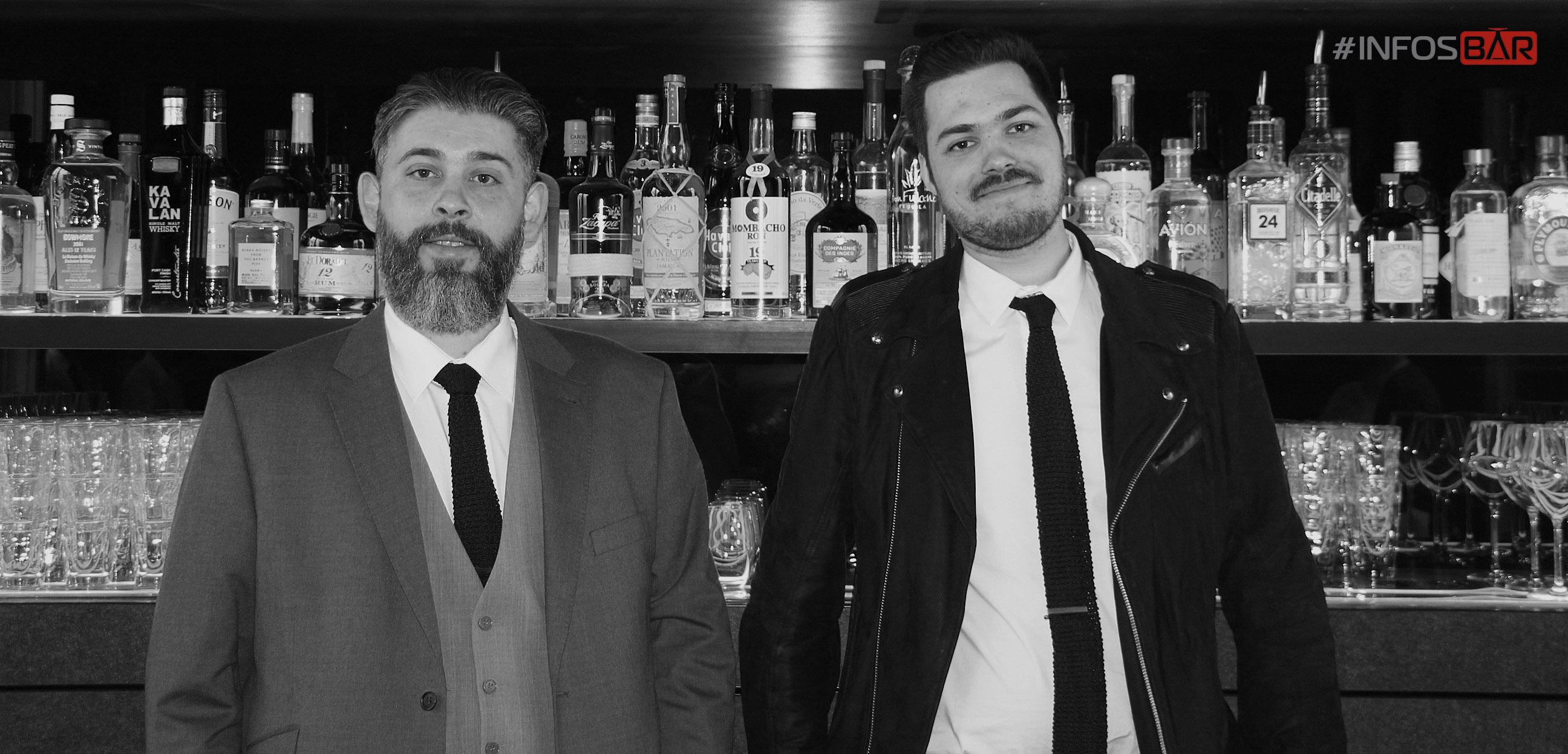 Julien Deba (Bar manager) et Nicolas Lasjuillierias (1 er bartender) - Bar des #Bains Paris