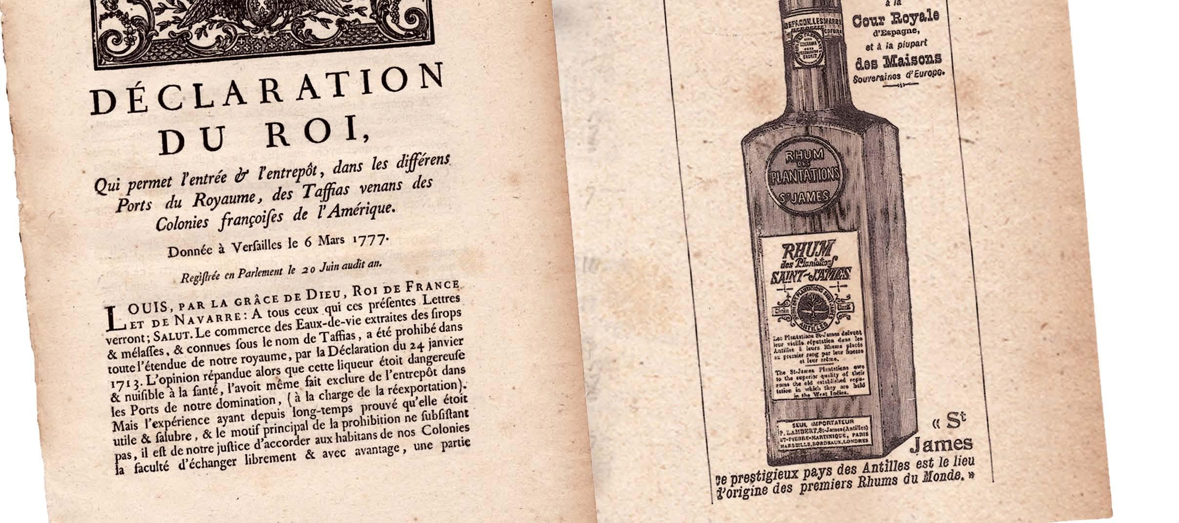 """Détail d'une parution Saint James """"The Graphic"""" 3 juillet 1886. Déclaration du Roi de 1777."""