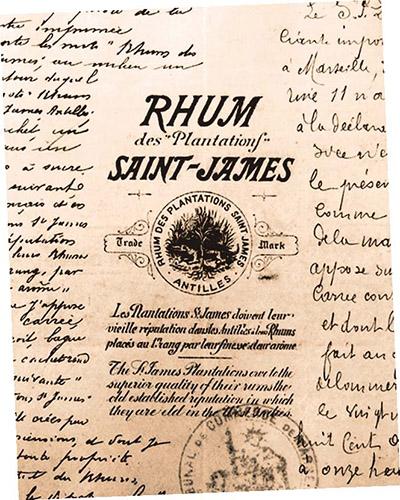 Dépôt original de la marque Rhum des Plantations SAINT-JAMES