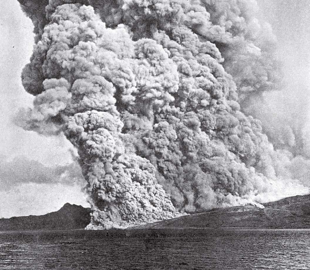 Éruption du Mont Pelée en 1902.