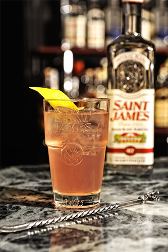 Cocktail signature Saint James Perfect Drink