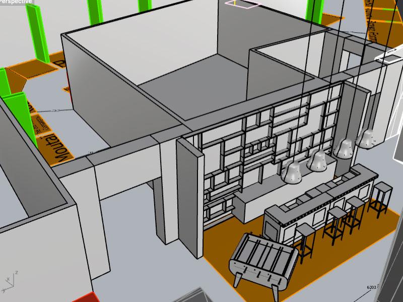 plan 3D du Bar des Amis