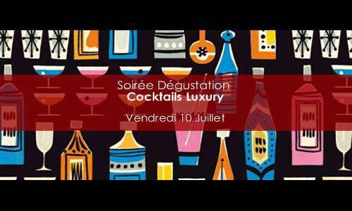 Soirée dégustation, spéciale Cocktails Luxury, chez Lavinia Madeleine