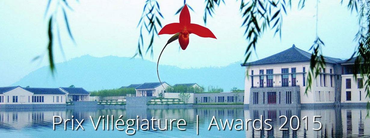Prix Villégiature 2015 : le palmarès
