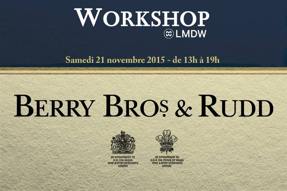 Workshop Berry Bros & Rudd à la Maison du Whisky