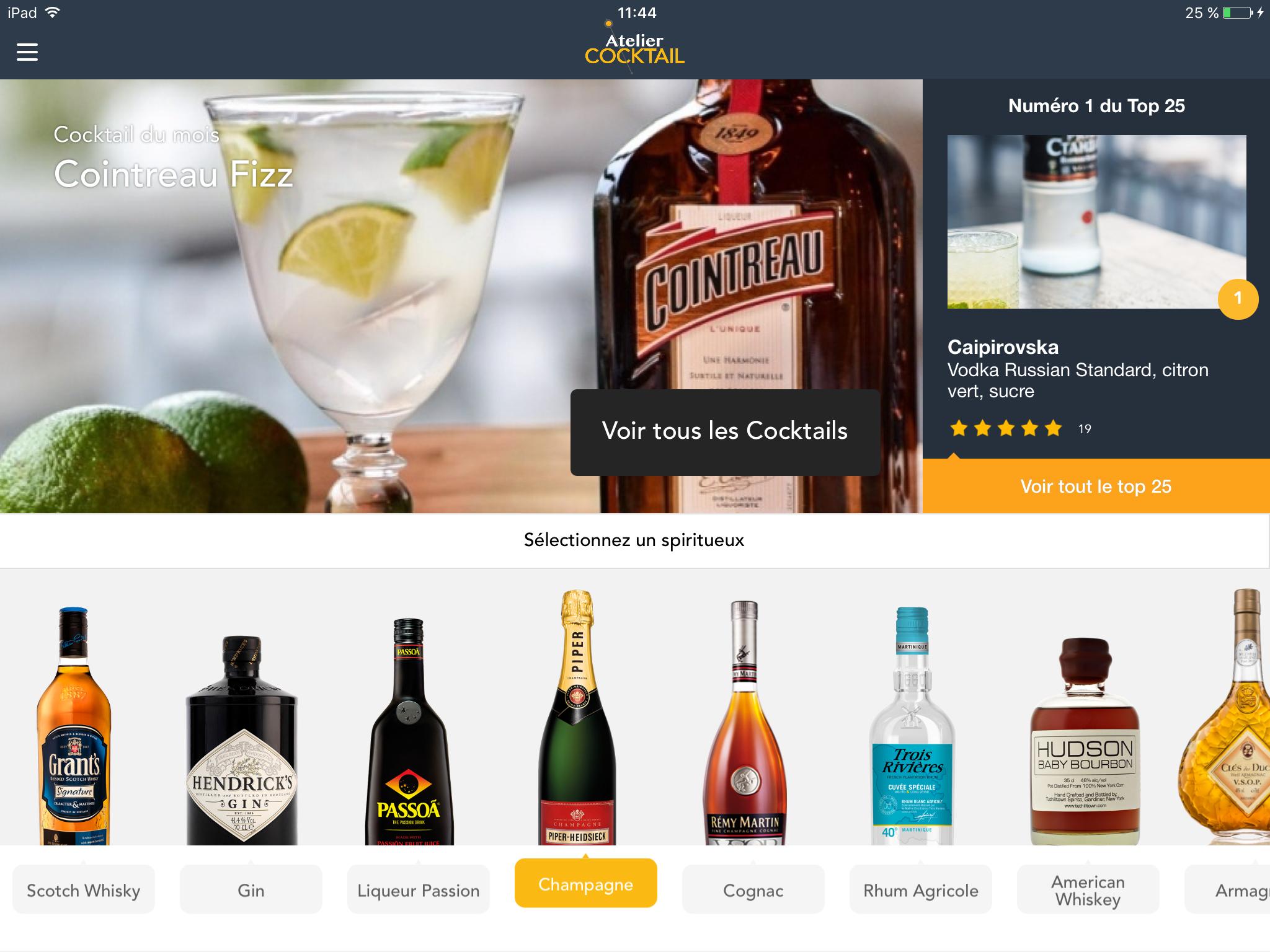 Atelier Cocktail by Lixir, l'appli idéale pour les amateurs de cocktails