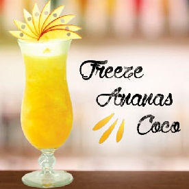 "Cocktail ""Freeze Ananas Coco"" by MONIN et 1664"