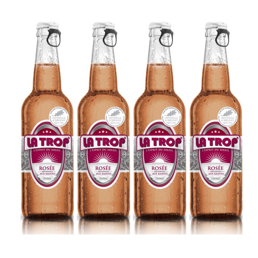 Bière LA TROP Rosée médaillée à Paris