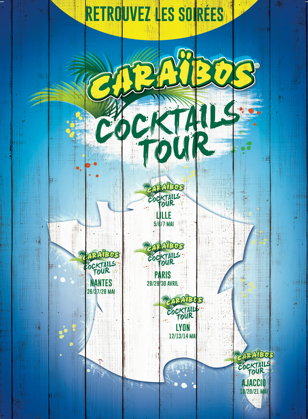 Le Caraïbos Cocktails Tour part en tournée