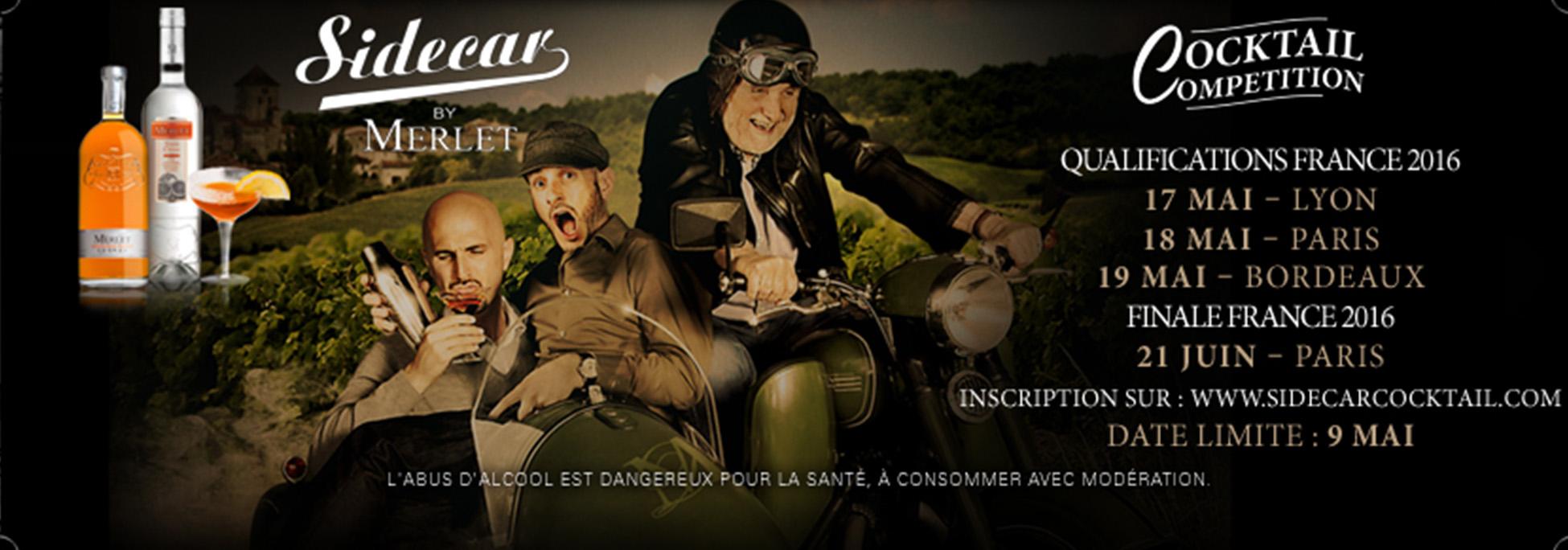 Concours Sidecar by Merlet 2016 : Rdv à Lyon, Paris et Bordeaux