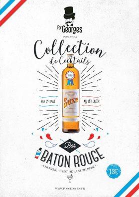 Collection de cocktails ForGeorges et Suze à Baton Rouge Pigalle