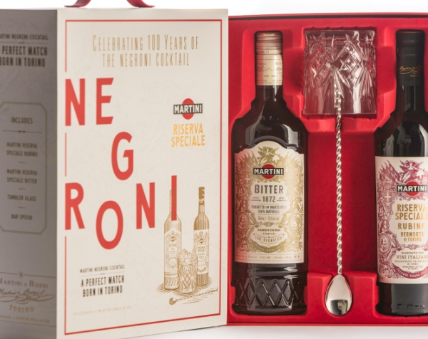 Coffret Martini pour les 100 ans de Negroni
