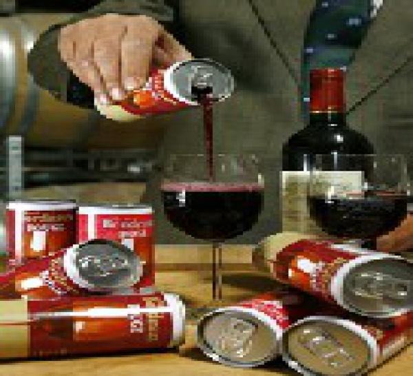 Du vin en canettes