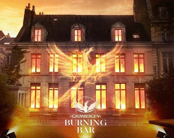 Grimbergen Burning Bar à Lille : le bar éphémère et expérientiel qui brûle chaque soir