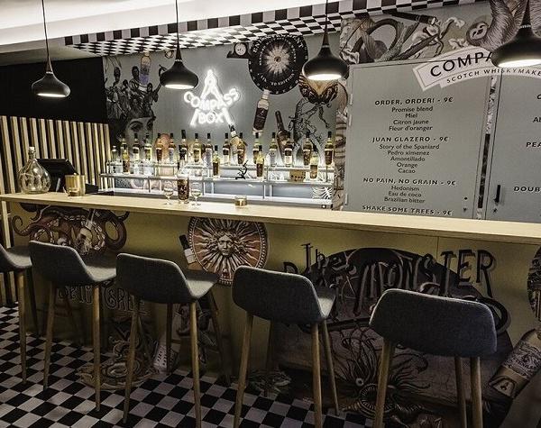 Bar éphémère Compass Box au Golden Promise Whisky Bar à Paris