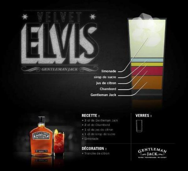 Cocktail Velvet Elvis par Jack Daniel's