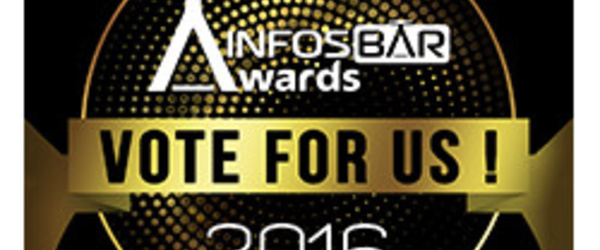 "Sticker Selection Infosbar Awards ""Vote for us"""