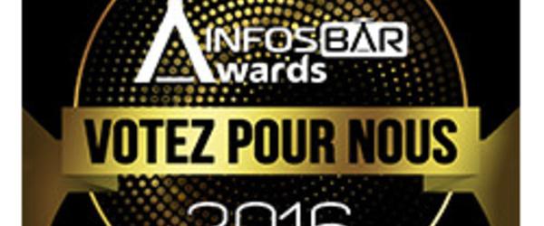 "Sticker Selection Infosbar Awards ""Votez pour nous"""