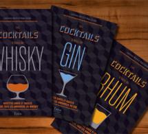 Les cocktails à base de gin, rhum & whisky : livres signés Laurence Marot et Régis Célabe