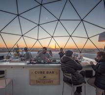 Ice Cube Bar sur la terrasse des Galeries Lafayette Haussmann