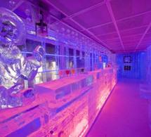 Le bar de glace du KUBE Hôtel