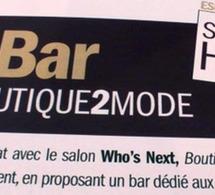 Mojito Vajadero au bar boutique2Mode - Who's Next 2009