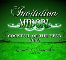 Midori cocktail of the year au Purple bar du Hilton