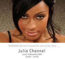 Julia Channel ce soir aux platines de Murano