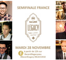 Bacardi Legacy Cocktail Competition 2018 : les Finalistes France