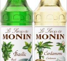 MONIN lance les sirops aux saveurs Basilic et Cardamone.