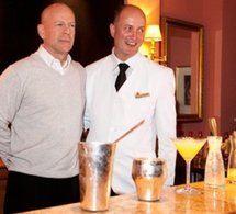 "Bruce Willis dévoile son cocktail ""My Sobieski"" à Paris"