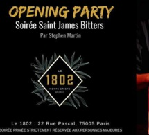 Rhum Fest Paris 2019 : soirée Saint James Bitters au bar 1802
